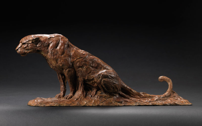 Seated Leopard sculpture from David Mayer
