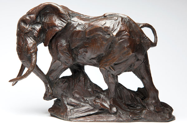 Elephant in bronze