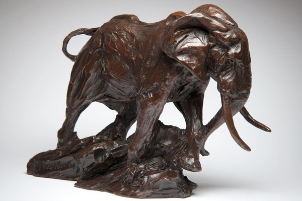 African Bull Elephant bronze sculpture