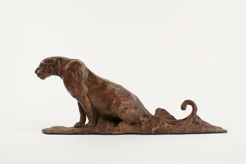 Small Seated Leopard Maquette